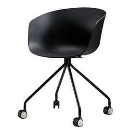 Polypropylene Plastic Rolling Chair Modern Design For Office / Home