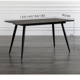 Black Color Smooth Foot European Style Kitchen Dining Table Leisure Coffee Table